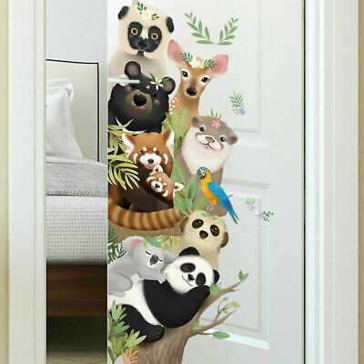Cute Animals Removable Wall Stickers Kids Nursery Decor Home Deco Art Mural Gift