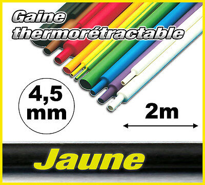GJ4.5-2# gaine thermorétractable Jaune 4,5mm 2m ratio 2/1
