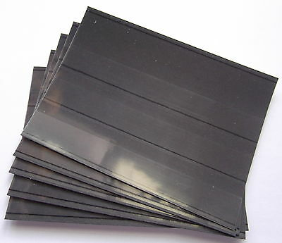 Stamp Stockcards 158 x 111mm 3-strips with coverfoil. Brand new & high quality.