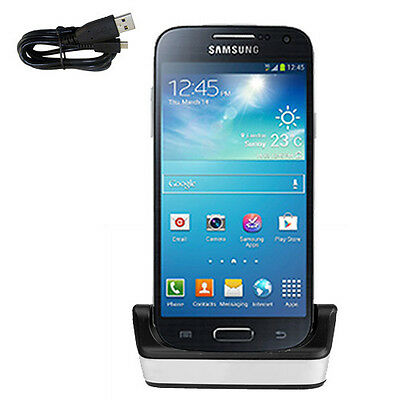 USB Data Transfer & Battery Charging Dock Stand for Samsung Galaxy S4 Mini i9195