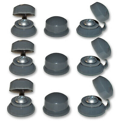 "100, 2"" (50mm) CORRUGATED ROOFING SCREWS & GREY STRAP CAPS FOR CLEAR SHEETS"