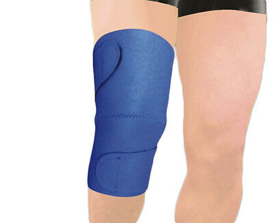 M L Adjustable Blue Neoprene Bandage Knee Patella Support Sport Brace Sleeve Gym