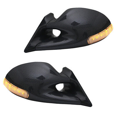 Sportspiegel Spiegel Carbon Optik manuell mit LED Blinker VW Polo 6N Bj. 94-95