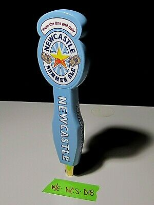 NewCastle Summer Ale Tall Beer Tap Handle keg bar pub New Castle wood sign we702