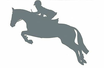 Sm Silver Hunter Jumper Decal Jumping Horse Equine English Equestrian Sticker