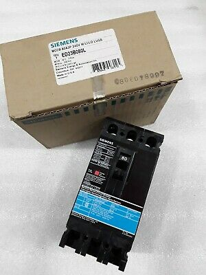 ED23B080L Siemens Molded Case Circuit Breaker 3 Pole 80 Amp 240V (New)