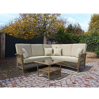 Outdoor Patio Furniture Wicker Sectional Set with Table - SHIPS FREE! (MS048)
