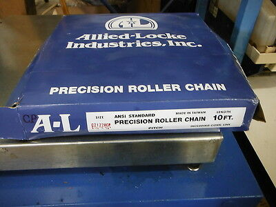 "Allied-Locke A-L 10' Precision Roller Chain C2122Hcp 2-1/2"" X 3/4"" ~ New In Box"