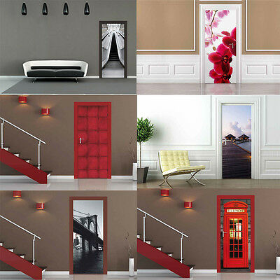 Door Wallpaper Mural Decor Photo Wall Paper Poster Living Bed Room Murals New