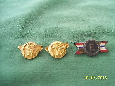 Vintage WWII  lot of 3 honor award pins