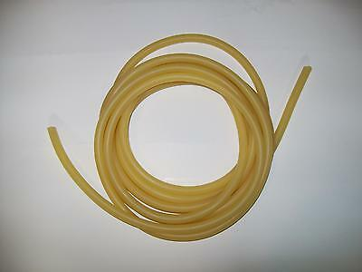 """25 Continuous Feet 1/8 x 1/16"""" w x 1/4"""" OD Surgical Latex Rubber Tubing Amber"""