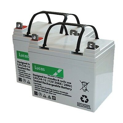 2 x LUCAS MOBILITY SCOOTER BATTERIES for Craftmatic Comfort Coach 4