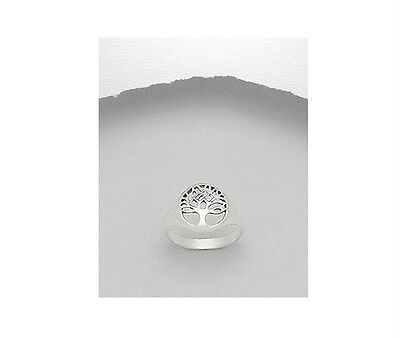 Celtic Small Tree of Life .925 Sterling Silver Fashion Ring Sizes 5-11