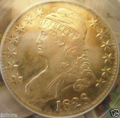 VERY NICE  200 YEARS OLD Rare 1826 CAPPED BUST LIBERTY HEAD HALF DOLLAR