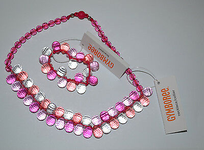 NWT Gymboree Girl Pink Faceted Bead Necklace or Bracelet 3 yrs+ Stocking Stuffer