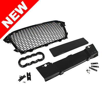 2013-2016 Audi A4/s4 B8.5 Rs4 Style Main Upper Euro Mesh Grille - Black