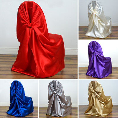 150 pcs Wholesale Lot SATIN UNIVERSAL CHAIR COVERS Wedding Party Ceremony Supply