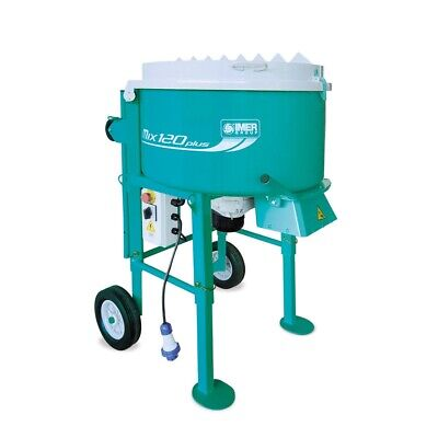 Imer Mix 120 Plus Screed, Render, Rubber, Mortar Mixer - Forced Action Mixer