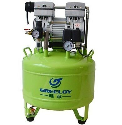 Dental Noiseless Oil Free Oilless Air Compressor Motors 40L Tank 800W 155L/min