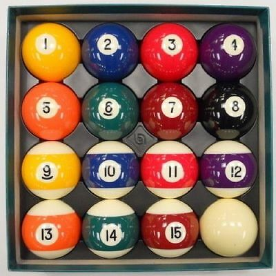 "Belgian Aramith 2 1/4"" PREMIER Pool Balls, Complete Set - FREE US SHIPPING"