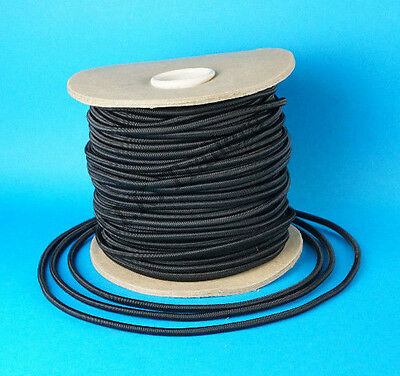 7 Metres of 6mm BLACK Elastic Bungee Shock Cord Rope for Trailer Covers