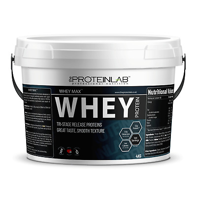 4Kg Whey Optimum Protein Powder Shake Anabolic Gold Muscle Growth - Free Shaker