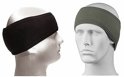 Heavyweight Fleece 2 Ply Headband Ear Warmer Black, Green Cold Winter Ears Cover
