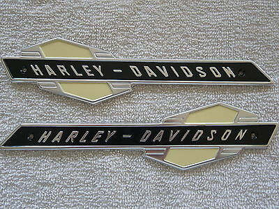 Harley 1963-1965  Gas Tank Emblems 61777-63 ..FL & XL . w/ MOUNTING KIT & SCREWS