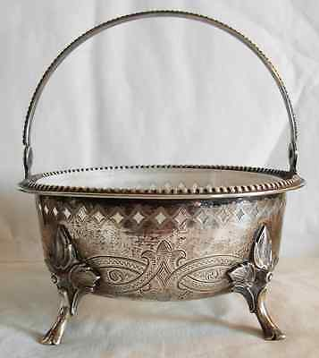 MID 19th CEN. SILVER 12 LOTH  CENTER PIECE BY WILKENS GERMANY - 180 grams