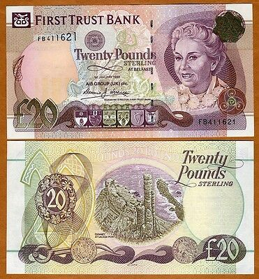 Northern Ireland, First Trust Bank, 20 pounds, 1998, P-137a, UNC