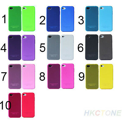 Multicolor Soft Silicone TPU Matte Case Skin Cover for Apple iPhone 4 4S 4G B85U