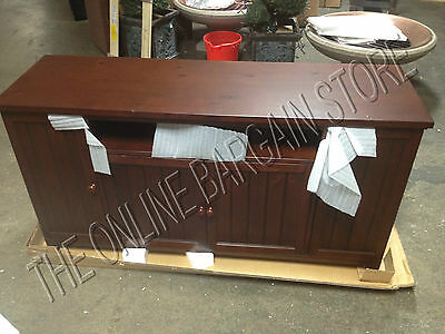 Pottery Barn  Media Cabinet Armoire TV Stand Gaming Console Beadboard Espresso 1