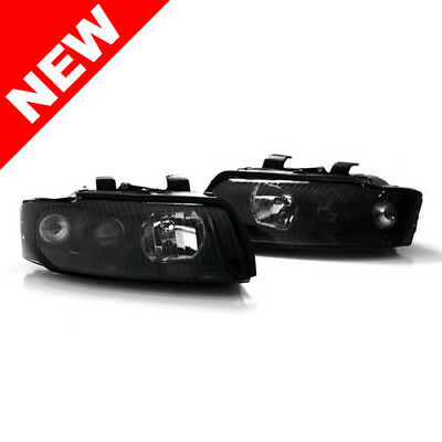 02-05 Audi A4/S4 B6 Sedan/Wagon Helix by Depo E-Code Projector Headlights -Black