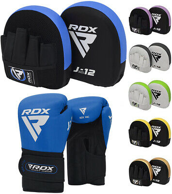 RDX Kids Boxing Gloves and Focus pads Mitts MMA Muay Thai Kickboxing Hook & jab