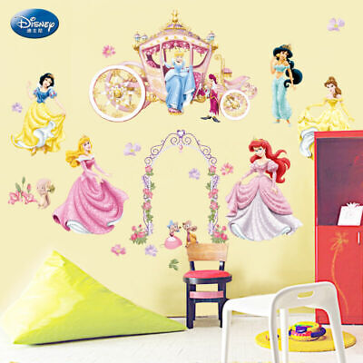 Disney Princess Girls Wall Stickers Nursery Vinly Decal Removable Kids Art Decor