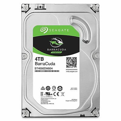 "Seagate BarraCuda 4TB 3.5"" SATA Internal Desktop Hard Drive HDD 5900RPM 256MB"