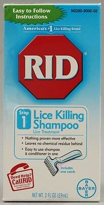 RID Lice Killing Shampoo Treatment Comb Eggs Nit 2oz Step 1 Conditioner Kill NEW