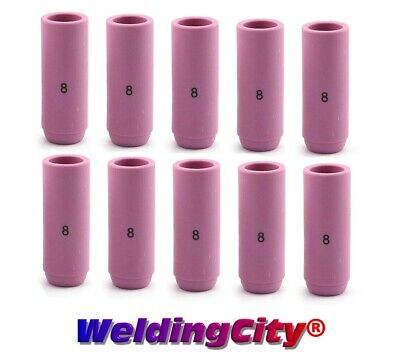 10 TIG Welding Ceramic Cup Nozzles 10N46 #8 Torch 17/18/26 | US Seller Fast Ship