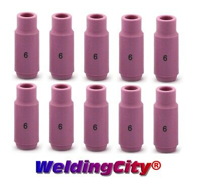 10 TIG Welding Ceramic Cup Nozzles 10N48 #6 Torch 17/18/26 | US Seller Fast Ship