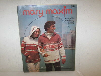 Vintage Mary Maxim Catalog Fall & Winter 1977 FC 64 Pages Fine Ads