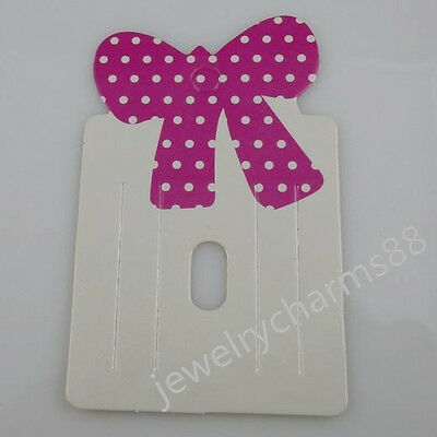 50PCS Bowknot Hair Clip Hair Claws Hairpins Hairgrips Hanging Display Card