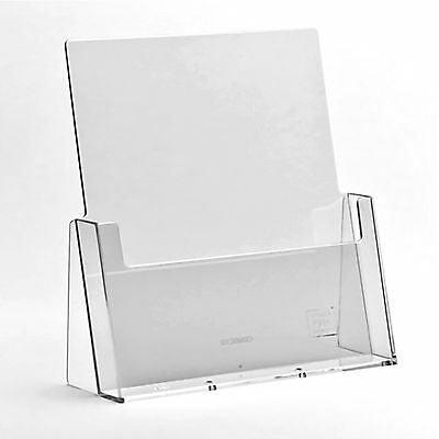 A6 DL A5 & A4 Leaflet Holders Counter Display Stand Flyer Menu Retail Dispensers