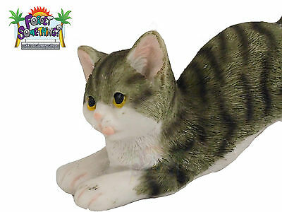 Poly Resin Lazy Cat Shelf Display Figurine Statue Textured