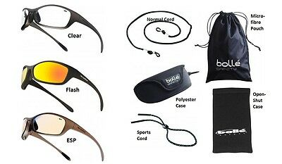 Bolle Spider safety glasses / specs / spectacles & FREE microfibre storage pouch