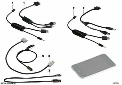 BMW Genuine In-Car iPod/iPhone Audio USB+AUX Adapter Cable Lead 61122338491