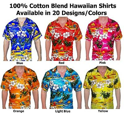 Hawaiian Shirt Stag Do Night Party fancy dress Loud Holiday Palm New All Sizes