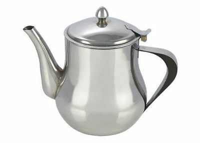 New Stainless Steel Tea Coffee Pot Non Drip Spout Dishwasher Safe 2Litre Kitchen