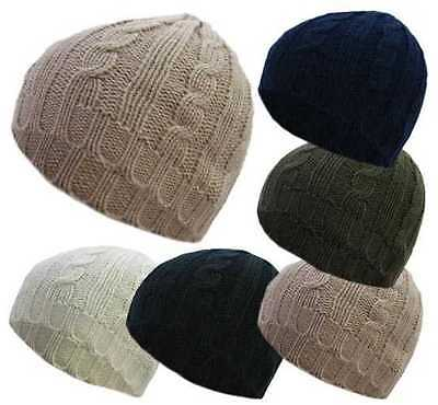 Wholesale Job Lot of 6 Cable Knit Beanies Chunky Knit Beanies Winter Hats Unisex