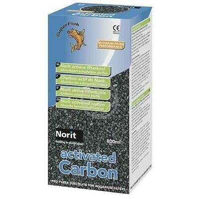 Superfish Norit Active Carbon 800ml Filter Media Tropical Discus Fish Clear