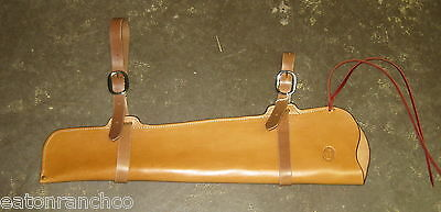 Rifle Scabbard for Saddle Leather Maker Marked Handmade Light Oil 30 30